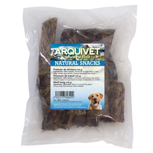 Chuche para perros Arquivet pulmón de ternera