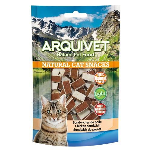 Natural Cat Snacks Sandwiches Arquivet para gatos sabor Pollo
