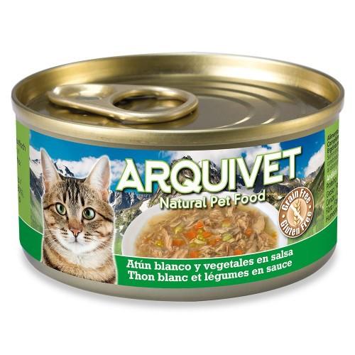 Comida húmeda Arquivet para gatos sabor atún blanco y verduras