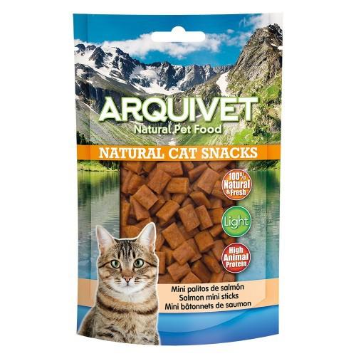 Natural Cat Snacks Mini palitos Arquivet para gatos sabor Salmón