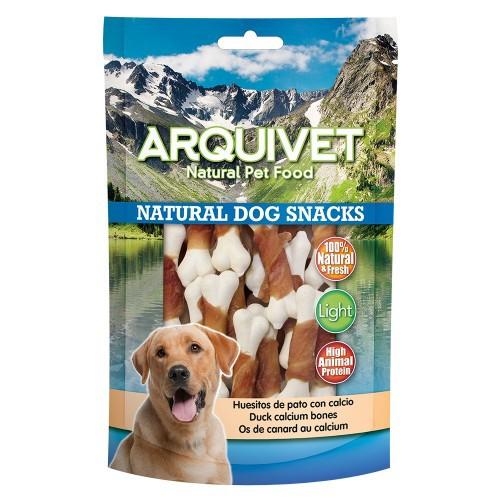 Huesitos Natural Dog Snacks Arquivet de pato con calcio sabor Pato