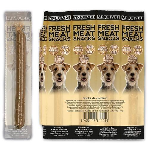 "Barritas Fresh Meat Dog Arquivet Snacks "" Sticks"" para perros sabor Cordero"
