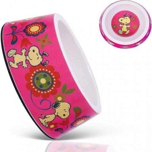 Comedero para perros de melamina Snoopy Pink Flower