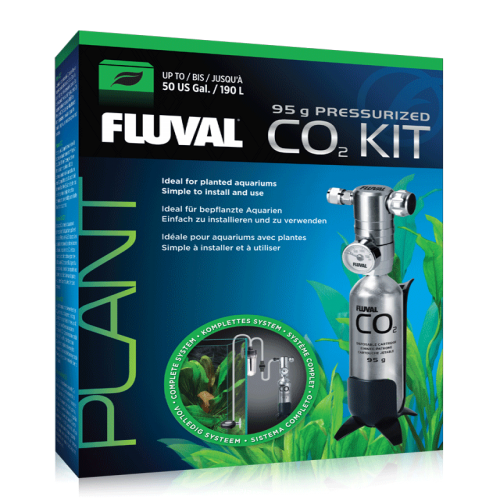 Kit suministro C02 para acuarios Fluval cartucho 95 gr