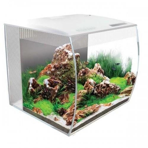 Kit de acuario FLEX para peces color Blanco