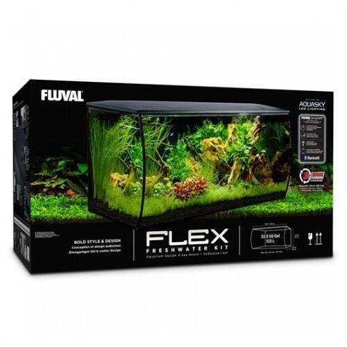 Acuario Flex 123 l para peces color Negro