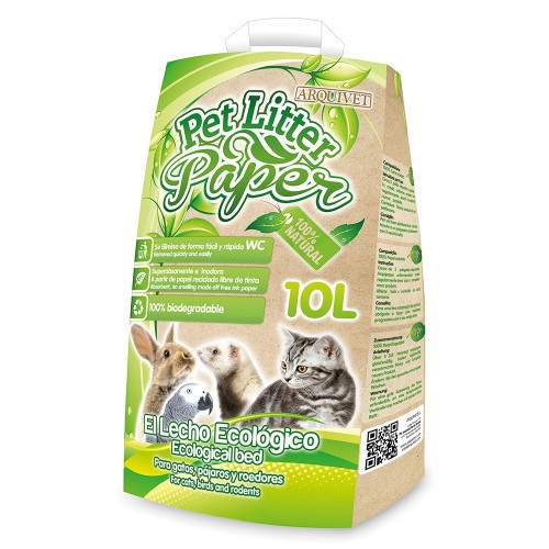 Lecho Pet Litter Paper mediano olor Neutro