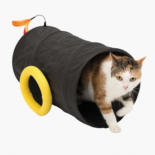 Túnel en forma de cañón Play Piratas para gatos color Negro