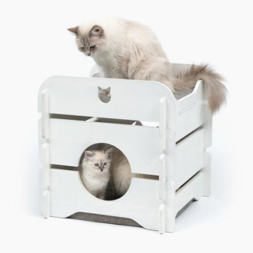 Casa Vesper Cottage para gatos color Blanco
