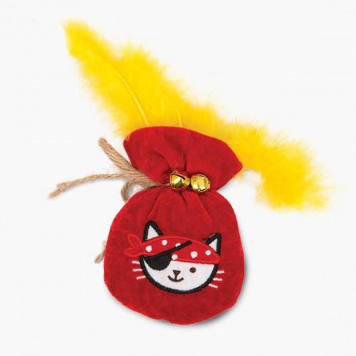 Bolsa de oro Catit Play Piratas para gatos color Rojo
