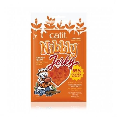 Snack Nibbly Jerky para gatos sabor Pollo