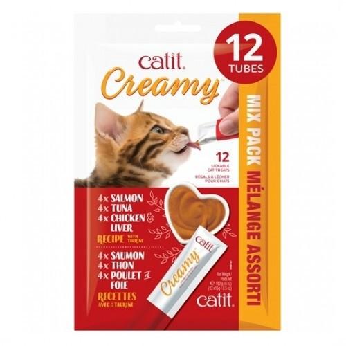 Multi-pack snacks Creamy para gatos sabor Surtido
