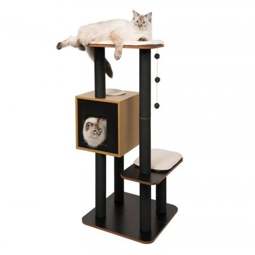 Rascador Vesper High Base Negro para gatos color Negro