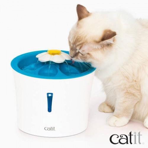 Bebedero para gatos Flower Fountain Led
