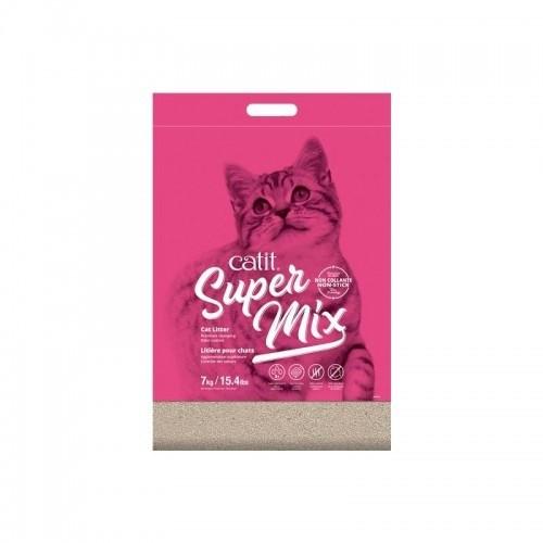 Arena aglomerante Super Mix para gatos olor Neutro