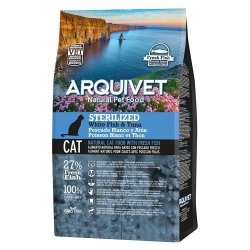 Pienso Cat Sterilized Arquivet para gatos sabor Atún y Pescado blanco