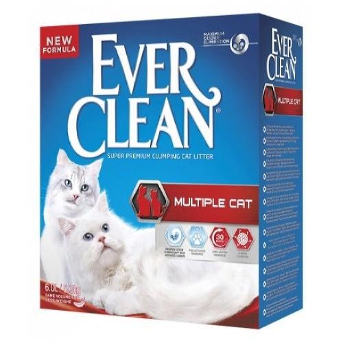 Arena aglomerante Ever Clean Multiple Cat