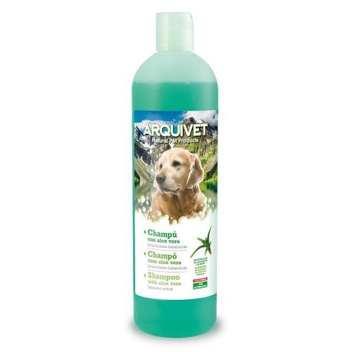 Champú natural calmante y cicatrizante para perros olor Aloe vera