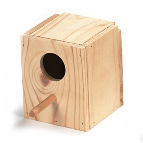 Nido de madera para aves exóticas