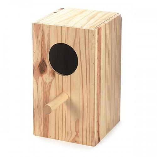Nido de madera para loros