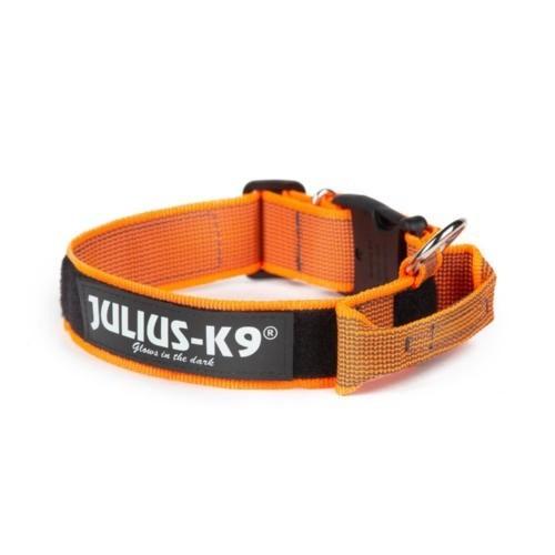 Collar con asa y doble cierre Julius K9 color Naranja