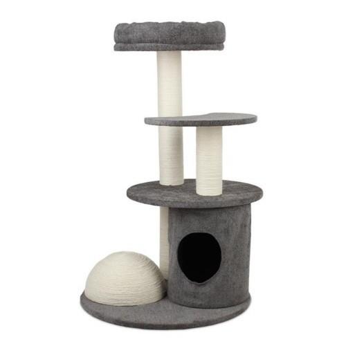 Rascador para gatos Arquivet Audrey torre color gris
