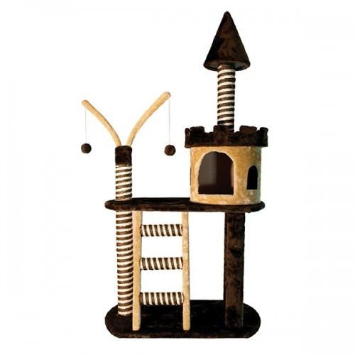Rascador para gatos Arquivet castillo color marrón
