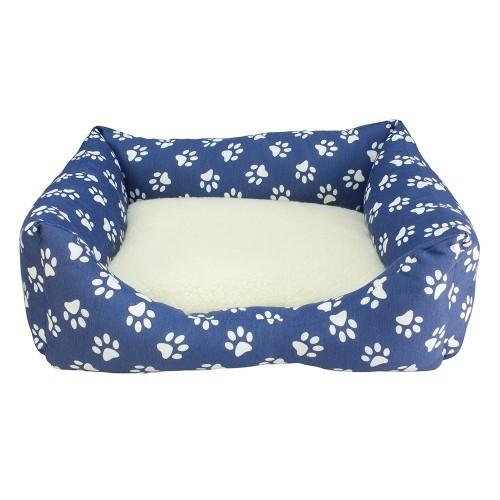 Cama Huellas para perros color Azul