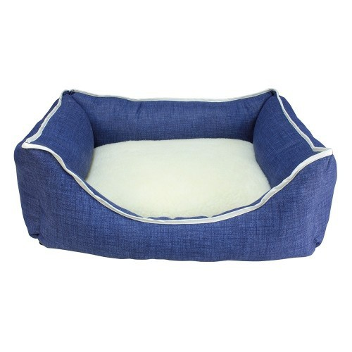 Cama Borrego para perros color Azul