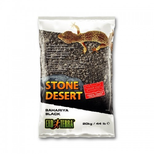 Substrato Exo-Terra Bahariya Black Stone Desert olor Neutro