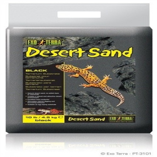 Substrato Exo-Terra Arena del desierto negra olor Neutro