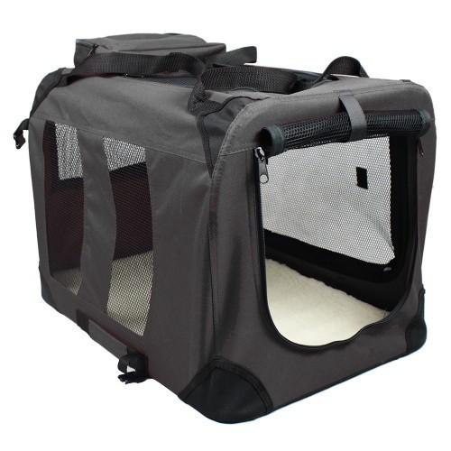 Bolsa de viaje funcional para perros color Negro