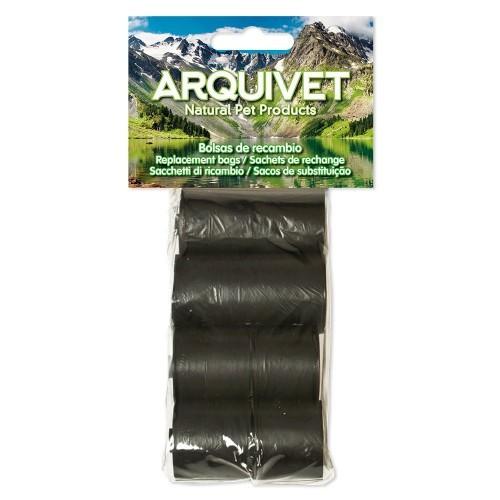 Pack de 80 bolsas de basura de recambio para excrementos color negro