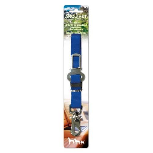 Tirador cinturon de seguridad regulable para perros color Azul