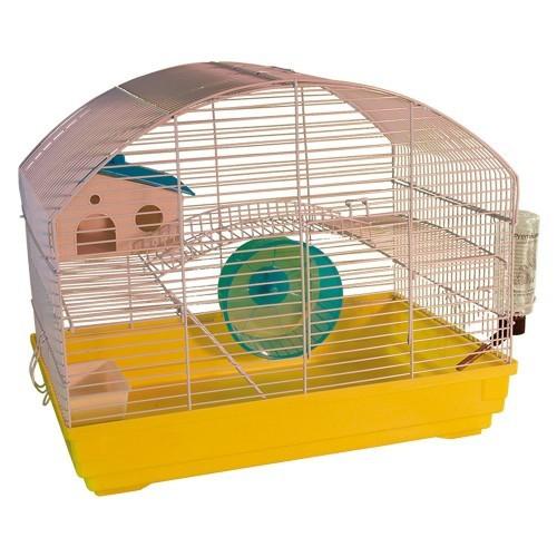 Kit 4 Jaulas Menorca para roedores color Amarillo