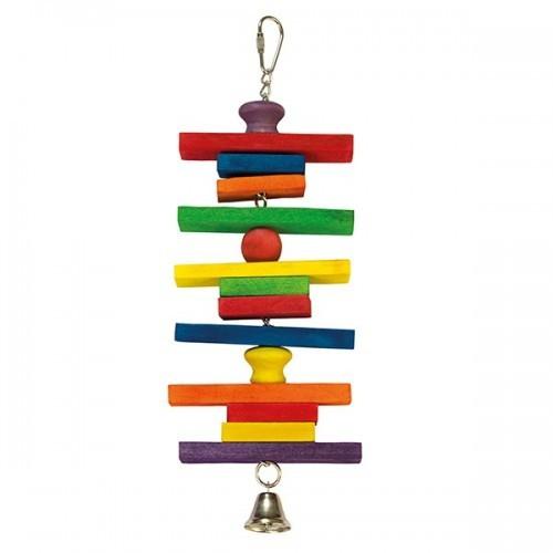Maderas de colores y campana color Multicolor