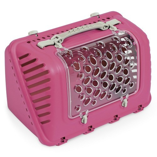 Transportín P-BAG para gatos color Rosa