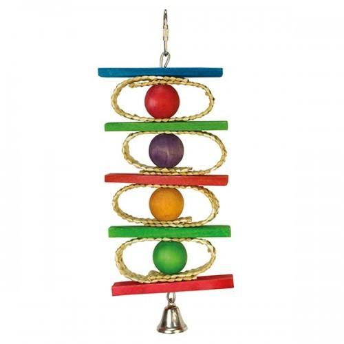 Juguete con aros, bolas de colores y campana color Multicolor