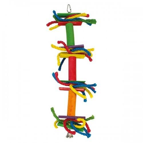 Juguete con lazos de colores y campana color Multicolor