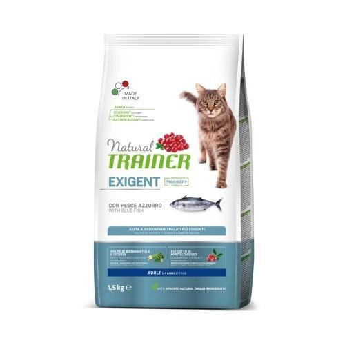 Natural Trainer Exigent Pescado azul para gatos