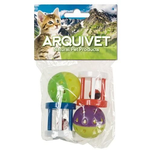 Pelota y cilindro con cascabel para perros color Variado