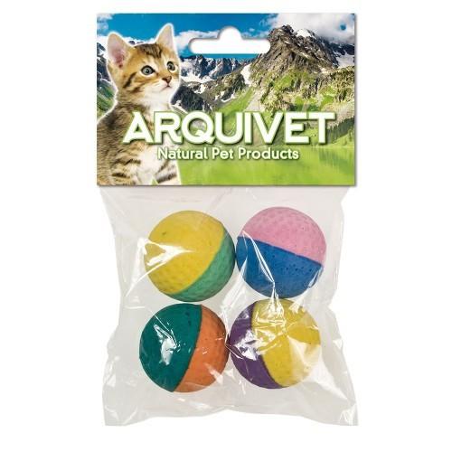 Pack de 4 pelotas de espuma para gatos color Variado