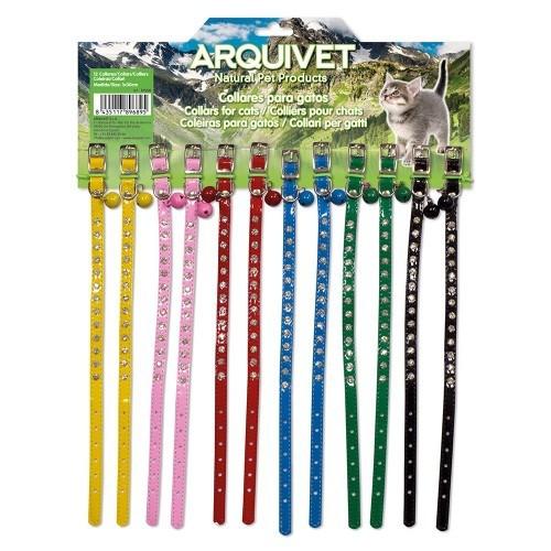 Display 12 collares gato color Variado