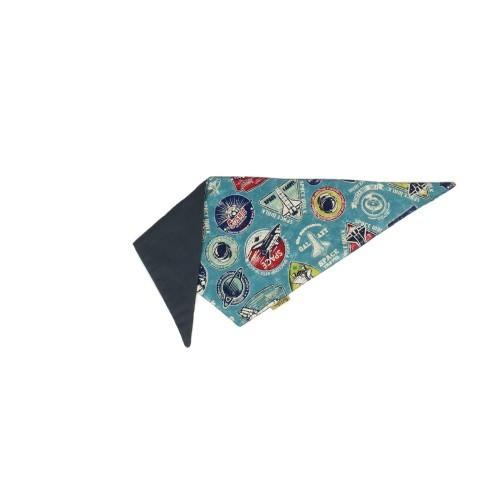 Bandana Naves espaciales para perros color Azul