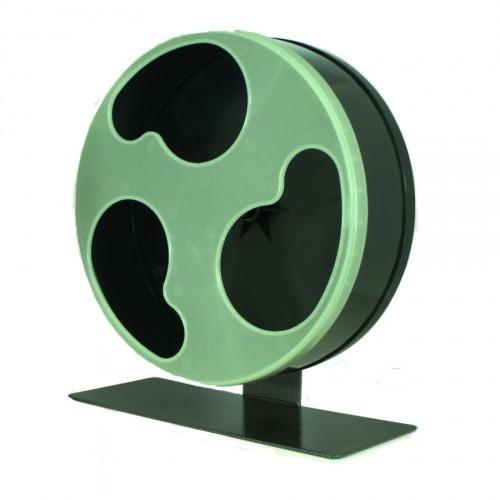 Rueda de ejercicio Silent Wheel Glow para petauros color Negro y Fosforescente