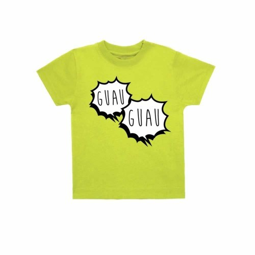 "Camiseta niño/a ""Guau, guau"" color Verde"