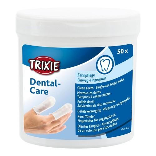 Almohadillas dentales para perros y gatos Trixie Dental Care Dientes Limpios