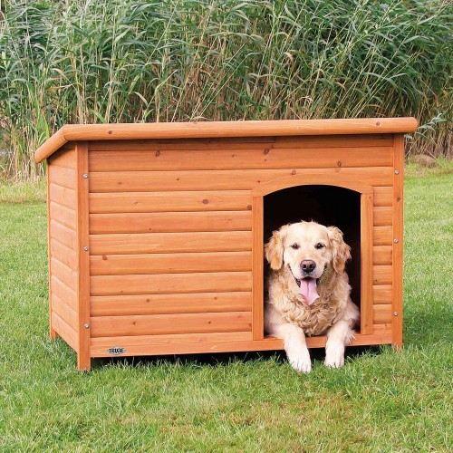 Caseta para perros Trixie Natura color marrón