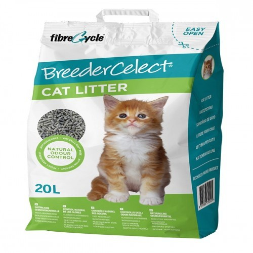 Lecho de papel reciclado BreederCelect para gatos olor Neutro