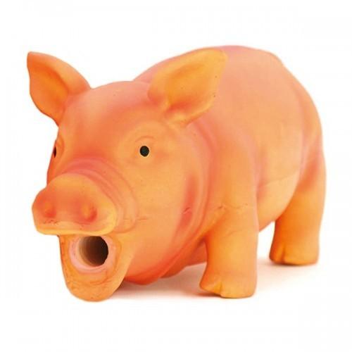 Cerdo látex de juguete para perros color Beige